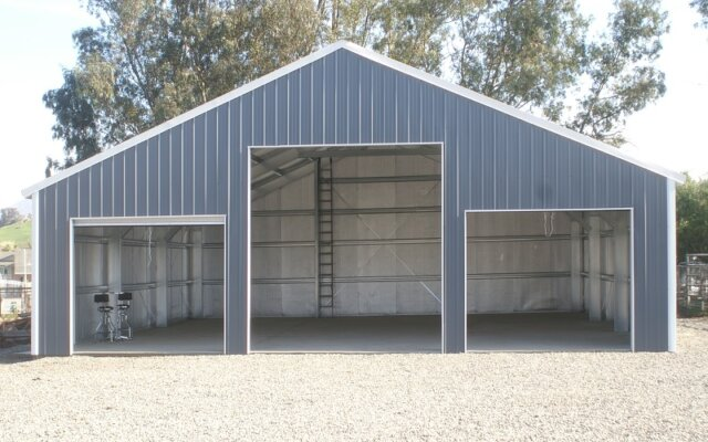 Storage space for agricultural equipment